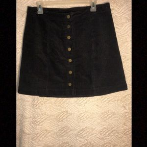 Charlotte Russe Suede Button Up Skirt